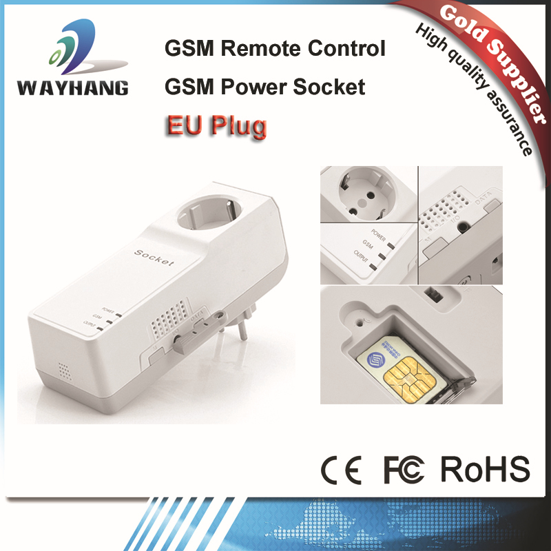 Free Shipping GSM SMS RC Remote Wireless Control Smart Switch GSM Socket Power Plug Interruptor for Home Household Appliance(China (Mainland))