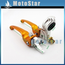 Buy CNC Alloy Motorcycle Gold Brake Clutch Lever 50cc-160cc Chinese Pit Dirt Bike XR CRF KLX SSR Taotao Lifan Thumpstar Kayo BSE for $25.99 in AliExpress store