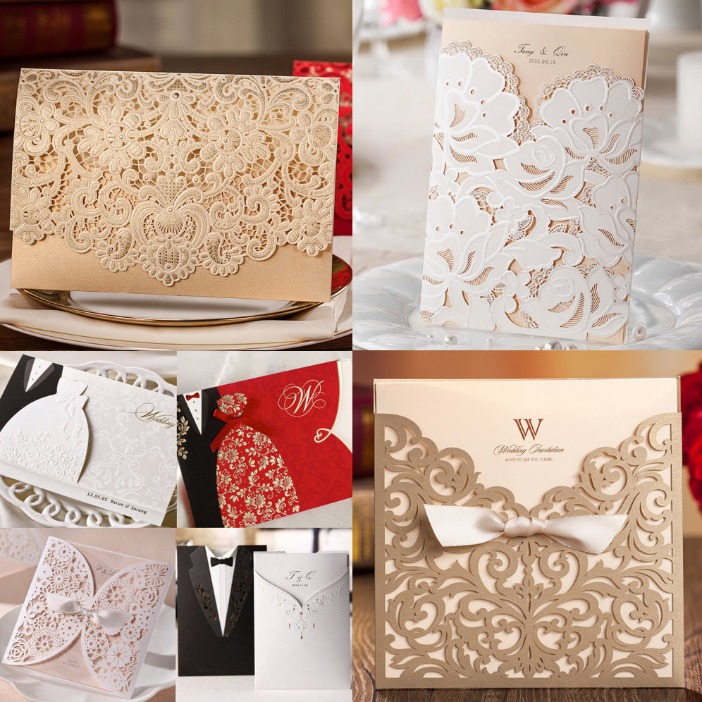 Sample, Hot Selling Wedding Invitations Birthday Business Party Invitations Card with Envelope Seal(China (Mainland))