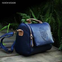 Hot Sale 2016 Fashion Womens Handbag Vintage Shoulder Bags Popular Messenger Pu Leather Female Small Blue Zipper Tote Wholesale