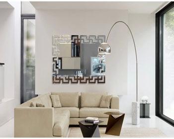 Wall mirror silver decorative bathroom office home - Silver bathroom mirror rectangular ...