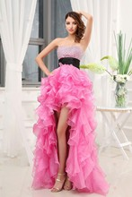 Sexy Pink With Black Sashes Off the Shoulder Asymmetrical Floor-Length Sweetheart Ruffles Beautiful Quinceanera Dresses ASZ142(China (Mainland))