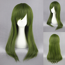 Free Shipping 60cm Medium Straight Kagerou Project-Kido Tsubomi Green Synthetic Anime Cosplay Hair Wig(China (Mainland))