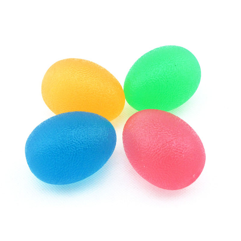 Silicone Gel Soft Hand Therapy Stress Relief Exerciser Squeeze Health Restore Egg-shaped Ball(China (Mainland))