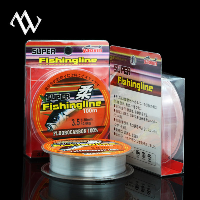 Hot Sell !! High Quality Multifilament 100M Fluorocarbon Braided Fishing Line Carbon Fiber Strong Fish Lines Free Shipping(China (Mainland))