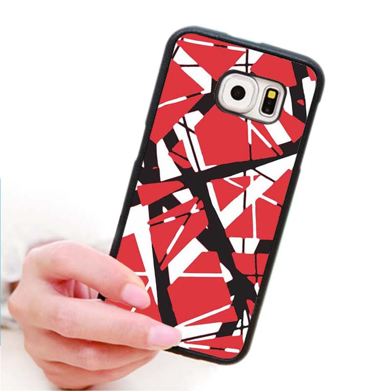 Eddie Van Halen Graphic Guitar Rouge Customized Case for Samsung S4/5/6 N3/4 Durable Cover Hard Plastic Back Protector(China (Mainland))