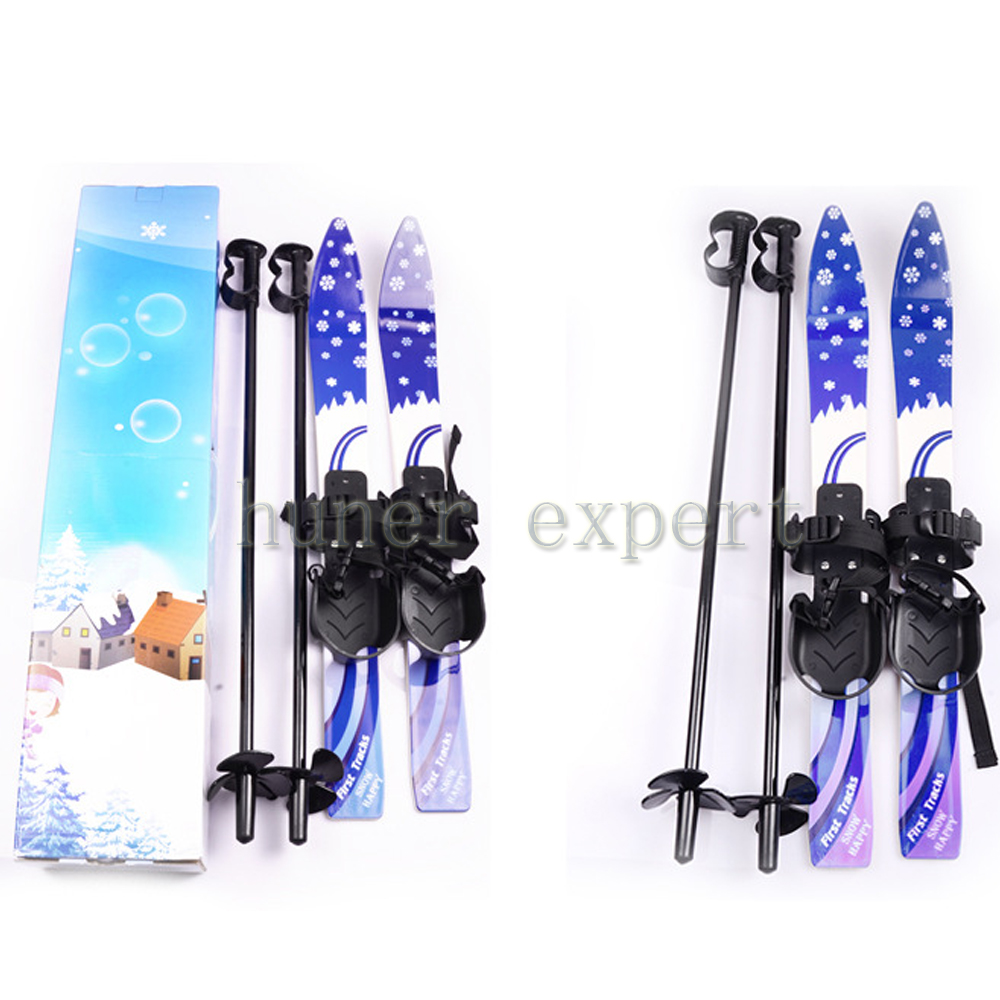 Outdoor junior skis w/snowboard pole bindings boots komperdell alpine skiing board for kid 5-10 years(China (Mainland))