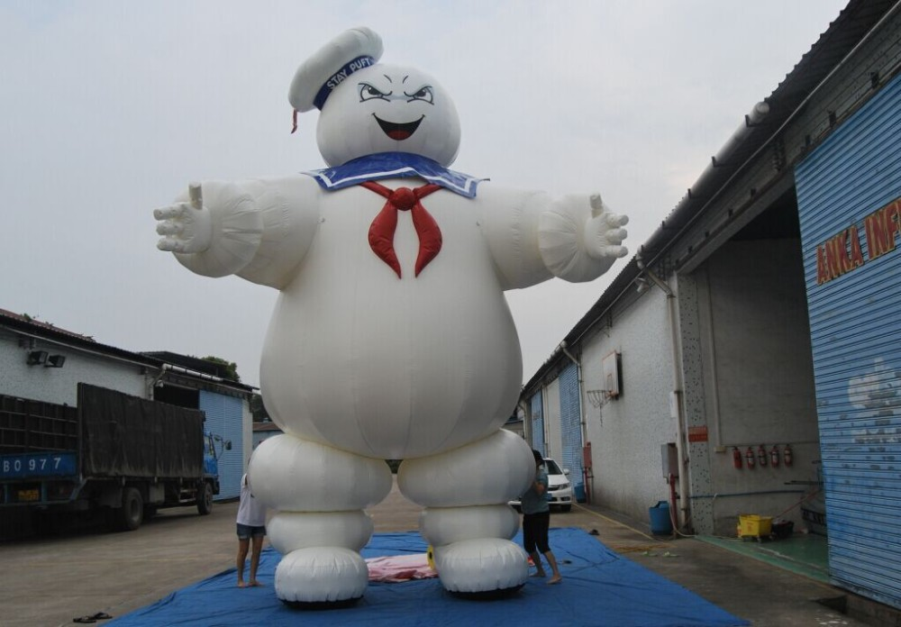 8ft mini Inflatable Ghostbusters Stay Puft Marshmallow Man, air dancer with blower for advertising(China (Mainland))