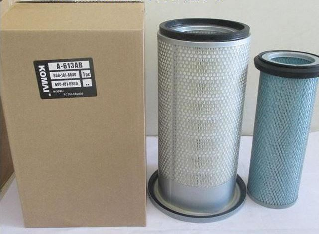 Komatsu Air Filter 600-181-6540 & 600-181-6560 a sets of filters For CA T E200B air cleaner excavator parts(China (Mainland))