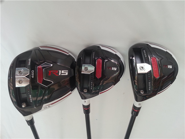 Left Hand R15 Golf Clubs R15 - RSi Full Set Driver + Fairway Wood + Irons Graphite/Steel Shaft Regular/Stiff Flex Head Cover(China (Mainland))