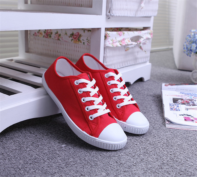 2015 New Women Sneakers Summer Candy Color Canvas Shoes Flat Solid Female Sneaker Fashion Shoes Woman cotton laceup(China (Mainland))