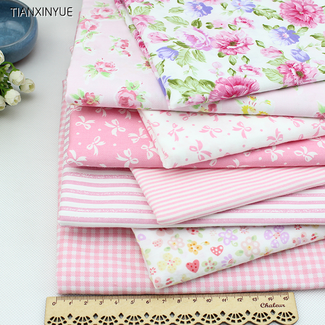 Молодая девушка marca дракон хлопчатобумажной ткани розовый цветок ткань DIY лоскутная Швейные ремесла 8 шт. Тильда Куклы Ткани 4050 см