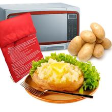 Red Potato Bag Microwave Potato Cooker Perfect Oven Baked Potatoes In Just 4 Minutes Useful Cooking Tool(China (Mainland))
