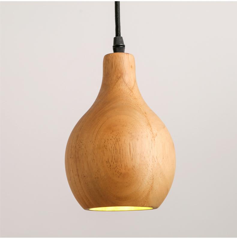 Contemporary art Wood Pendant Lights Dining Room Pendant Lamps Modern LED Restaurant Coffee Bedroom Lighting