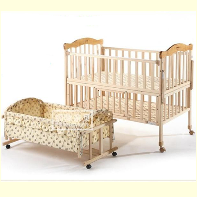 New Arrival Eco Friendly Paint Solid Wood Baby Bed Crib