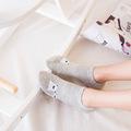 Summer funny women s Short Socks cute cartoon animal patterns cotton socks for women fashion creative