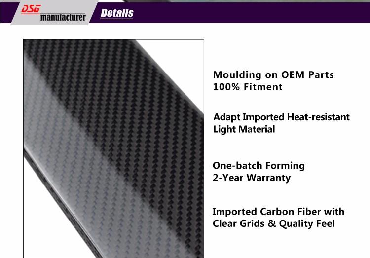 Купить Высокое качество углеродного волокна спойлер на крыше для bmw 2005-2011 3 3-й серии e90 4 дверный седан 318i 320i 323i 325i 328i 330i автомобиля укладки