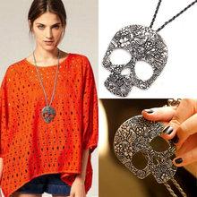 Hot Womens Vintage Skull Gothic Pendant Bib Statement Retro Choker Charm Necklace Classic Jewelry Gift