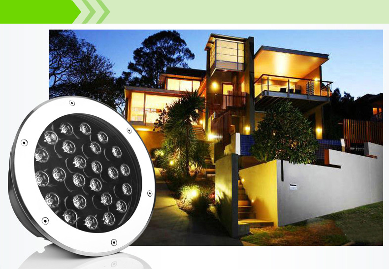 Фотография 36W LED underground light DC12v garden light Buried LAMP IP65,cool white/warm white,Surface Oxidating 10pcs/lot