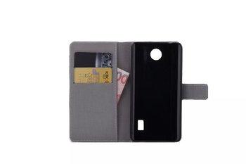 Etui portfel do Huawei Y635 skóra PU print