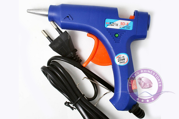 EU Plug Professional High Temp Heater 20W Hot Glue Gun for DIY with Free 1pcs Hot