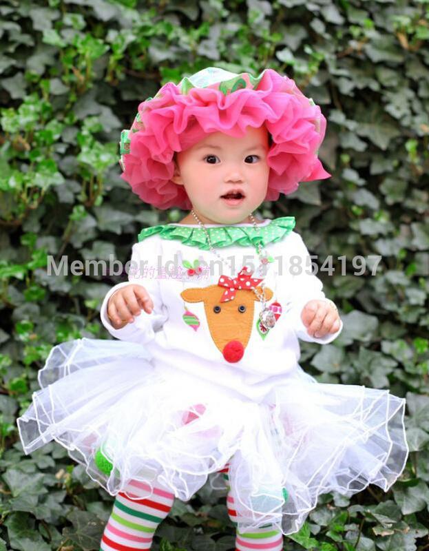 2015 new Christmas 2pc/set vestidos de menina vestir childrens suit kids clothing baby girls dress cotton white dress New Year(China (Mainland))