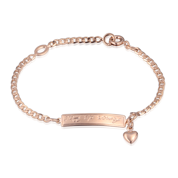 Fashion Baby Girls 18K Gold Plated Bracelets Bangles Heart