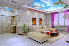 Decoration 2015 New bedroom ceiling sky blue and white design living room ceiling lamp design entrance(China (Mainland))