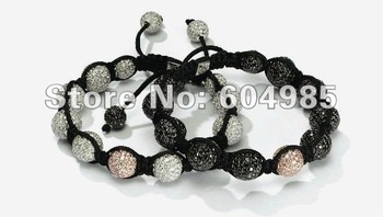 2pcs Landlord stlye Bracelets Wholesale, free shipping, New Landlord Bracelets crystal Micro Pave CZ Disco Ball Bead CPX83