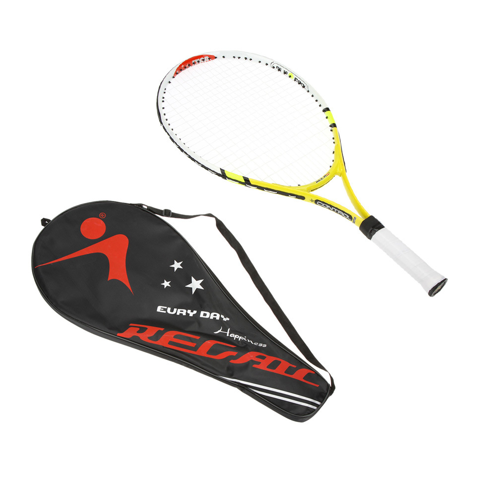 Aluminum Alloy Tennis Racket Children Tennis Racquet with Cover Bag for Training Exercise Green/Yellow/Blue(China (Mainland))