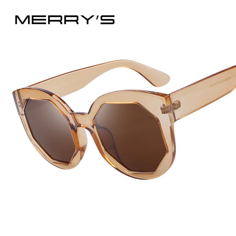 MERRYS Fashion Women Sunglasses Polygon Lens Cat Eye ...