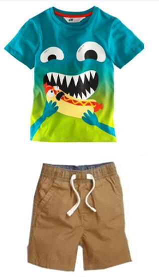 QZ089 Free Shipping  2015 new boys summer clothing set suit boys set t-shirt + short 2 pcs  childrens clothes wholesale<br><br>Aliexpress