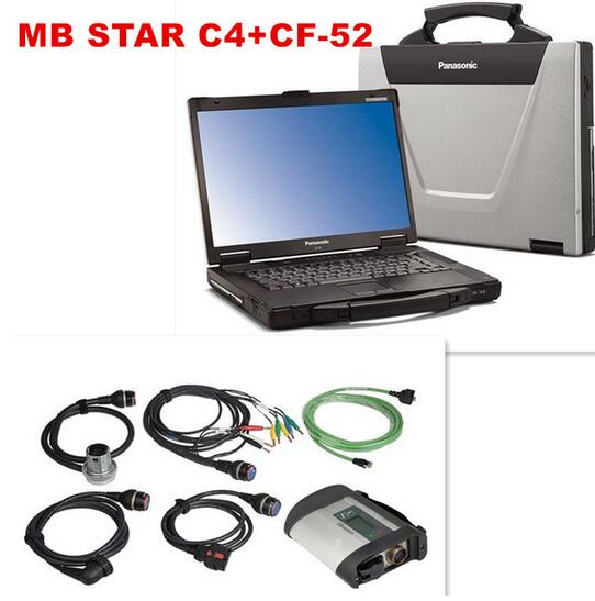 CF52 + MB Star C4 SD Connect + SSD 2016.09 Xentry Diagnostics System Compact 4 Mercedes Diagnosis Multiplexer For Benz Diagnose(China (Mainland))