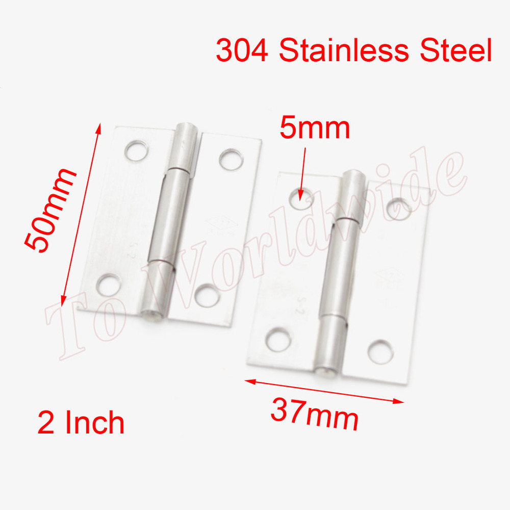 """Cabinet Door Hinges 2"""" 304 Stainless Steel Butt Hinge 10pcs(China (Mainland))"""