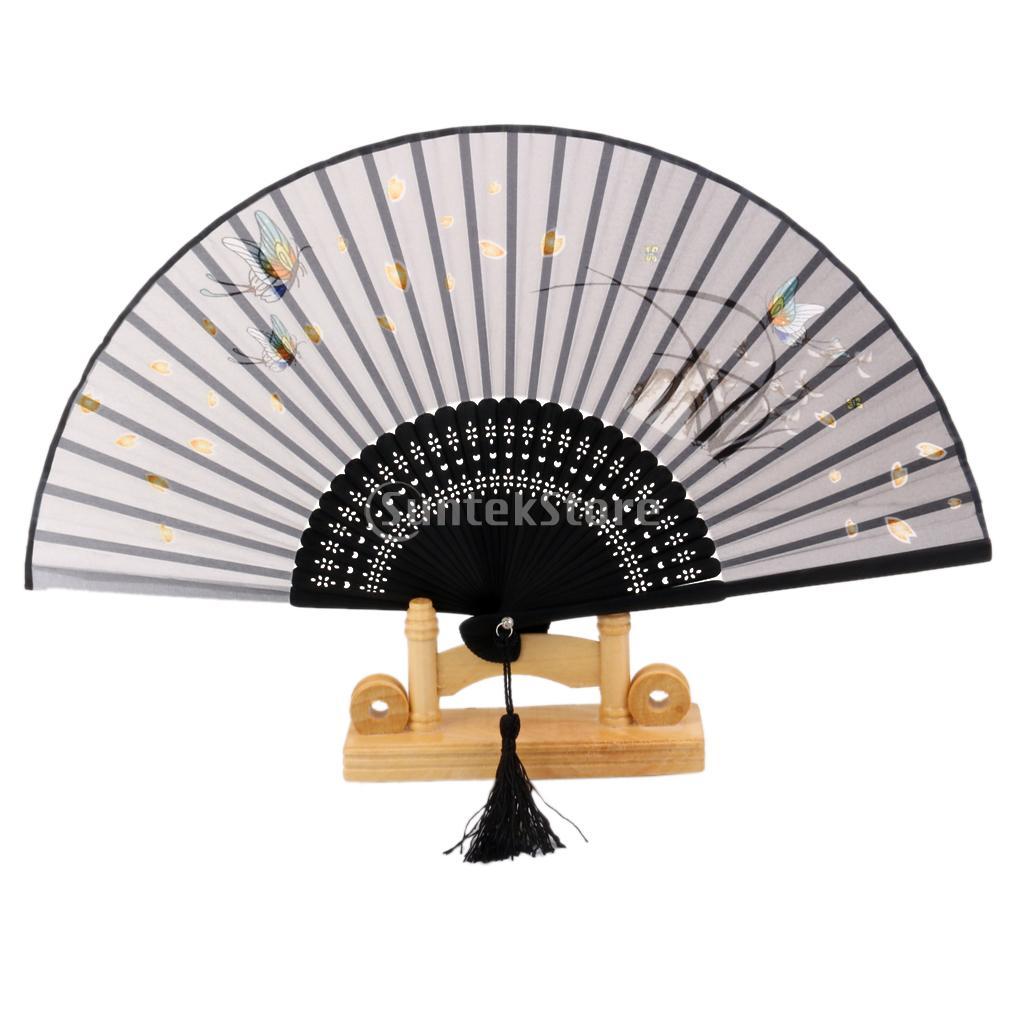 New Arrivals 2015 Japanese Kimono Sense Cotton Linen Hand Fan Butterfly Sakura Folding Fan Free Shipping(China (Mainland))
