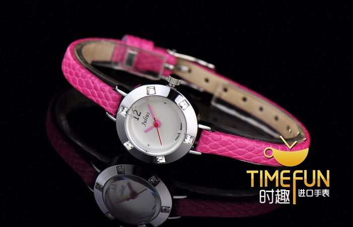Юлий леди дети наручные часы мини-небольшой кварцевых часов лучший модное платье корея кожаный браслет девушка подарок JA677