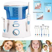 New 600 ml Oral irrigateur dentaire eau dents Flosser soie dentaire Set Tooth Cleaner eau choisissez Mechine avec 7 Jet conseils ue US UK Plug(China (Mainland))