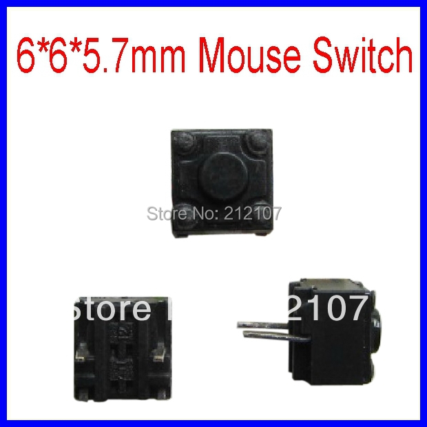 6*6*5.7mm Mouse Switch Micro Switch Light Touch Switch / Button Switch<br><br>Aliexpress