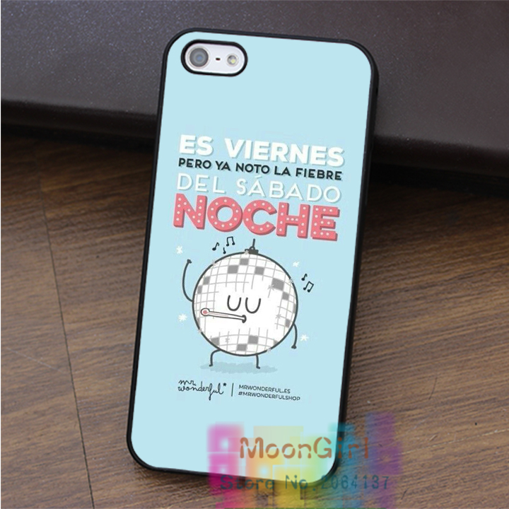 Mr Wonderful 7 fashion cell phone case for iphone 4 4s 5 5s 5c SE 6 6s & 6 plus & 6s plus #qx0727(China (Mainland))