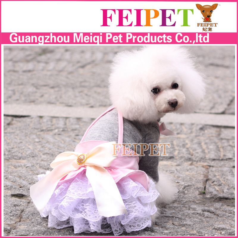 Free Shipping Hot Sale Fashionable Clothing for Dogs Chihuahua Small Dog Clothes Sexy Lace Skirt with Shoulder-Straps for Dogs(China (Mainland))