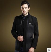 2015 Free shipping men's winter jacket men clothing fashion men jackets mandarin collar mens coat winter warm Slim Jacket H85(China (Mainland))