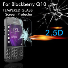Tempered Glass For BlackBerry Q10 Front Film Screen Protector Greatest Guarder Anti Scratch+Shocked No Retail Package Etradec(China (Mainland))