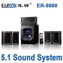 2015 Real Barra De Sonido Ershen Er5500 Wooden Subwoofer Home Theater Computer Speaker 5.1 Channel K Song Speakers