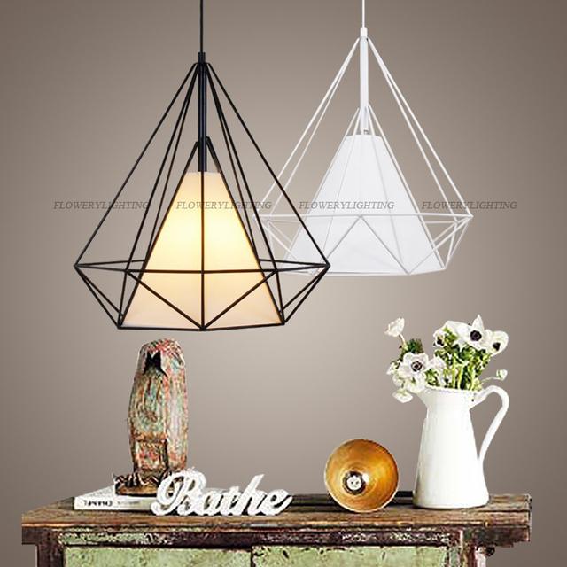 Vogelkooi hanglamp modern diamond art piramide iron scandinavische ...