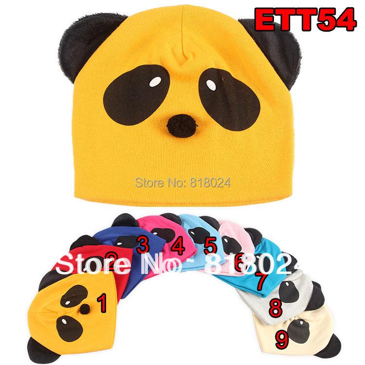 5 pçs/lote crianças Panda Cap / chapéu primavera outono bebés meninos meninas animais Cap infantil criança Skullies & gorros com orelhas para 0 - 18 M(China (Mainland))