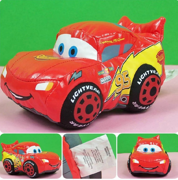 Free Shipping 1pcs 17cm pix cars cartoon Plush Doll Stuffed soft toys ,Pixar Cars toys for kids(China (Mainland))