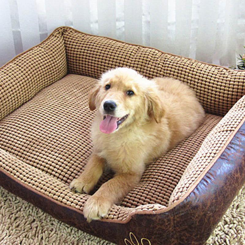 Large Dog Bed Mat Cushion Washable Warm Soft Fleece Pet House Kennel Cushion Luxury Sofa Bed Pet Products PT0027