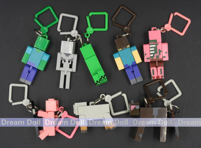 10pcs/lot 2015 juguetes minecraft toys PVC action figure set keychain best kids toys for boys brinquedos(China (Mainland))