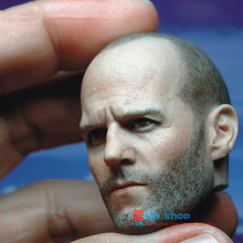 1:6 Action Figure Accessory Custom 1/6 Soldier Jason Statham Head Sculpt Death Squads Head Carving for 12″ Figure Doll Toys P45
