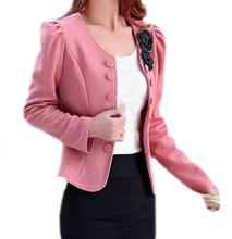 FAAJ Women's Fashion Slim Jacket Suit Blazer Long Sleeve Short Coat Outerwear